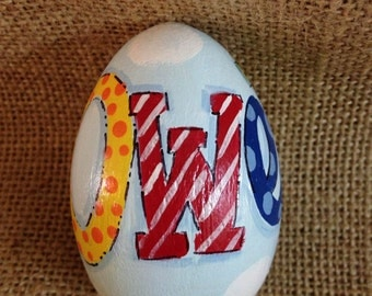 """3.25"""" Personalized name easter egg, wooden egg,"""