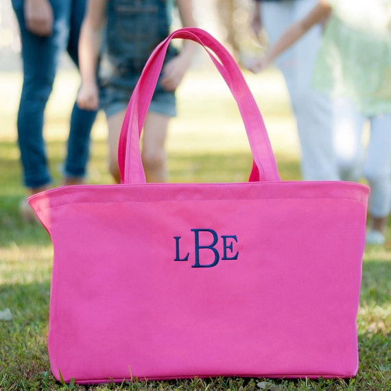 Pink Ultimate tote bag hot pink oversized bag monogrammed tote bag beach bag pool bag summer bag monogrammed gift