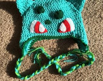 Adult Size Bulbasaur Crochet Hat