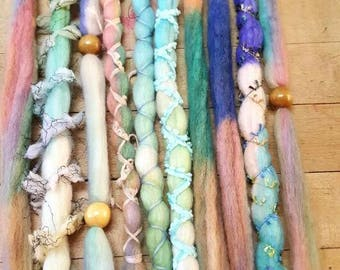 Dreadlock set of 10 Wool Dreads Accent Dreads Ready to Ship