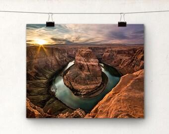Horseshoe Bend, Page Arizona USA, Sunset Photo, Landscape Photography