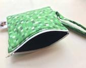 8-bit Zipper Pouch, Green...