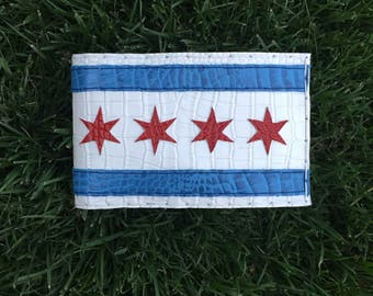 Windy City, Flag of Chicago, Illinois scorecard holder