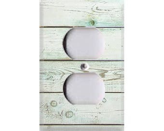 Country Rustic - Distressed Wood Outlet Cover