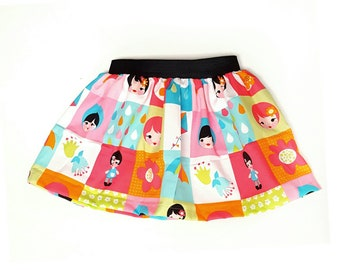 Spring Skirt - Girl Skirt - toddler Size 18M to 7