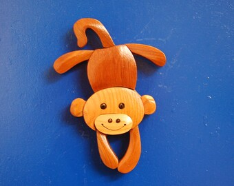 MONKEY MAGNET ...  Original design, hand crafted from exotic wood