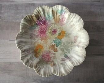 """Royal Bonn China Plate, AS IS, Royal Bonn Germany China, Franz Anton Mehlem 8"""" Plate, Royal Bonn Chrysanthemum Flower Plate, Scalloped Plate"""