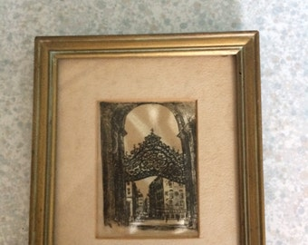 Original Silk Etching/Hans L Leisch