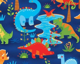 Dandy Dinos by Wilmington Prints, Cheerful Dinosaurs Perfect for Children, #69283