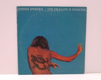 Jimmie Spheeris Vinyl Record Vintage 1975 Dragon is Dancing Autographed Johnny Pierce Bass Guitarist Tequila Moonlight Snake Man Blown Out