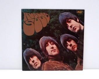 Beatles Vinyl Record Rubber Soul John Lennon Paul McCartney George Harrison Ringo Starr Vintage Girl Michelle In My Life Vintage 1978 Purple