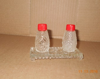 Clear Glass Salt and Pepper shakes