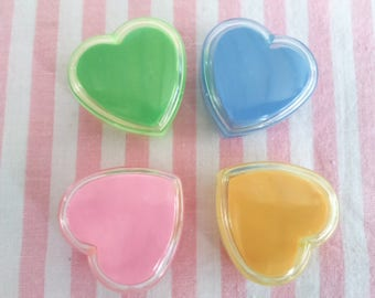 Erasers Hearts Vintage Boxes 80s