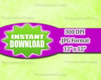 Bright Green Marble Gradient Digital Scrapbook File - 300 DPI - JPG File Format - 12x12 - High Resolution - INSTANT Digital Download - 0069