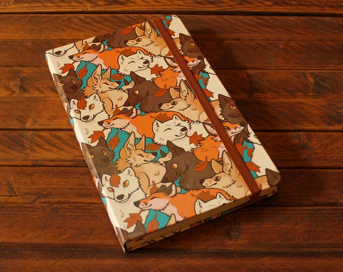 Patterned A5 Sketchbook - Foxes