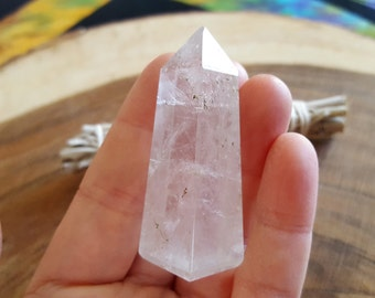 Clear Quartz Obelisk ~ 1 Reiki infused crystal obelisk approx 2.2 x .7 inches (OBE25)