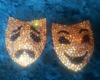 Golden Drama Mask Pasties
