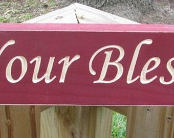 Primitive Country 1690 Count Your Blessings  Wood Block