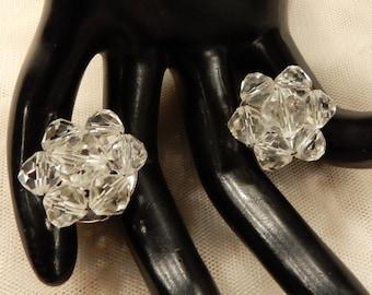 Nice Vintage Laguna Crystal Bead Cluster Earrings