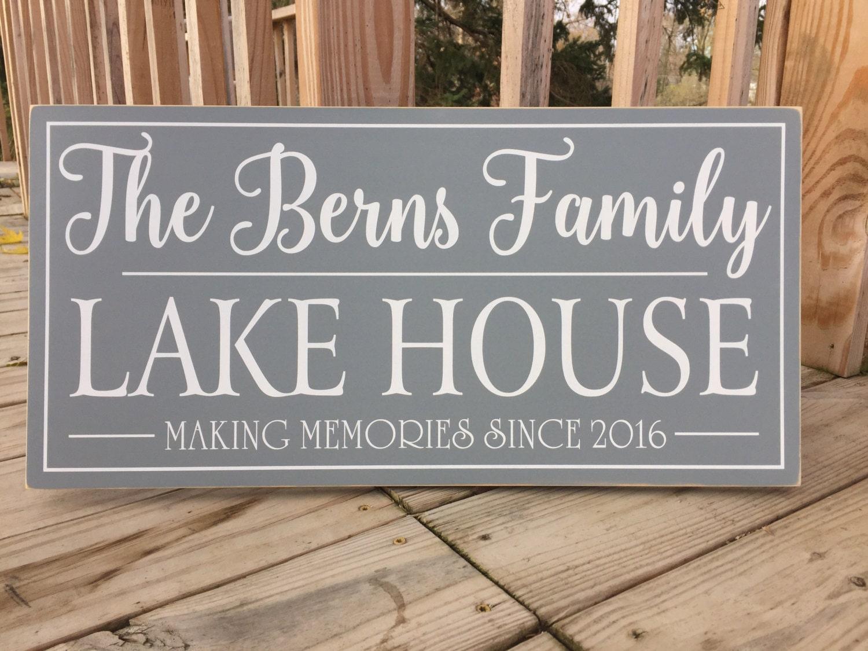 large lake house sign personalized lake house signs custom