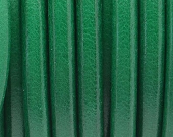 4.5mm Fresh Green European Round Leather cord, high quality finding, jewelry making craft supplies, supplier, Kallyco on Etsy
