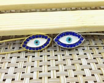 5  pcs  Rhinestone Evil Eye Pins , Greek Evil Eye Safety Pins , Turkish Evil Eye Pins , Baby Pins ,  Wholesale Evil Eye Jewelry ,