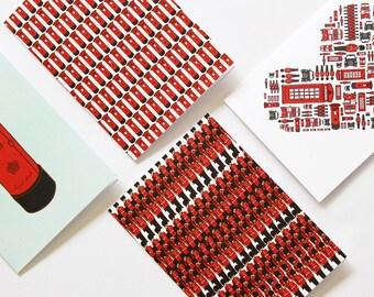 4 London Themed Cards