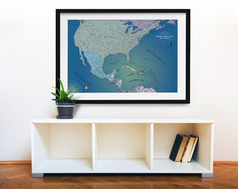 North America Magnetic Push Pin Travel Map Pushpin Map US - Home magnetics us map