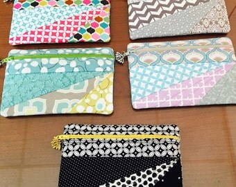 Cute Cotton Small Quilted Zipper Pouch-Lecien Fabrics-Lined-Cosmetics-Change