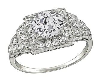 Vintage GIA Certified 1.15ct Diamond Engagement Ring