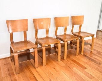 Childu0027s Chairs, Mid Century Childu0027s Chairs, Bentwood Chairs, Original Rare  Signed Thonet Bentwood