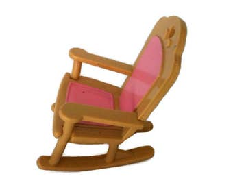Doll House Chair / Miniature  Baby Doll Plastic Chair / Fisher Price 1993 / Miniature Dollhouse Baby Doll Furniture /