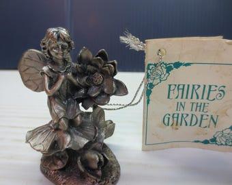 Sunflower Pewter Fairies in the Garden by Ganz