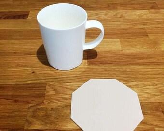 Octagon Shaped Latte Beige Matt Finish Acrylic Coasters