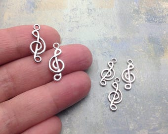 20 Musical Note Charms / Silver Musical Note Charms / Musical Note Charm / Silver Musical Note Charm / Silver Musical Notes / Musical Charm