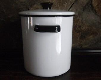Enamel Stockpot, Enamel Steamer, Enamel Strainer, Enamel Canner, Enamel Canning Pot, White Enamelware, Kitchenware Steamer, Enamelware Pot