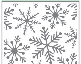 Echo Park Snowflake Stencil