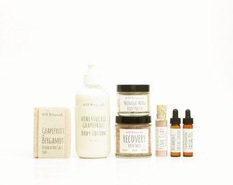 Ultimate Spa Gift Set, Bridesmaids Gift, Body Scrub, Bath Salt, Lotion, Detox Mask, Serum, Facial Oil, Spa Party, Detox, Relax, Christmas