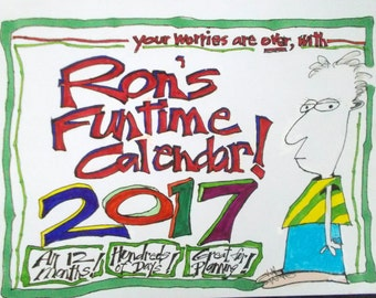Wall Calendar 2017 humorous whimsical cartoons off-beat unique