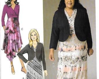 McCall's Khaliah Ali Pattern 7367 SHRUG & DRESSES 18W 20W 22W 24W