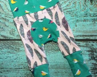 Maxaloones / Grow With Me Size Pants / Baby Leggings / Baby Pants / Toddler Leggings / Toddler Pants / Baby Wearing Pants / Bum Circle Pants