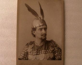 Antique Cabinet Card / Guy Lindsley / Shakespearean Actor / Elite Studios, San Francisco CA