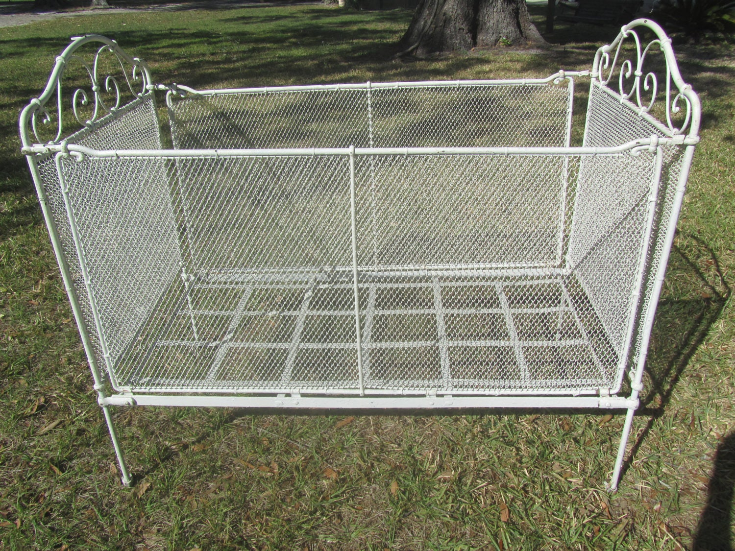 Antique Baby Bed Shabby Chic Baby Bed Crib Iron Baby Bed