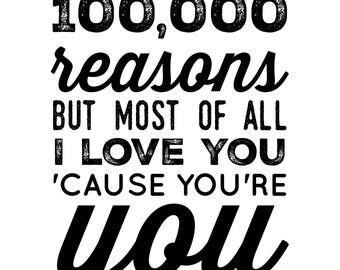 I Love You - Elvis, Johnny Cash Quote, Blank Card
