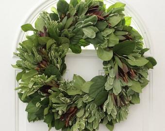 "Mixed Greens Wreath- 20"""