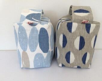 Fabric Doorstop - Laura Ashley Blue Wallace or Sanderson Retro Blue Grey