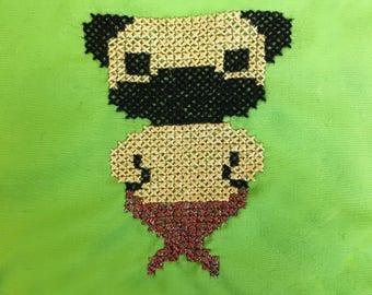 Merpug Fawn Pug Dog Bandana