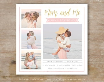 Mini Session Template, Mom and Me Mini marketing template, mommy and me mini session template, mothers day template
