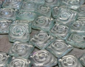12 recycled window glass tiles spiral handmade mosaic glass bathroom tile backsplash art multicolor alcohol ink cabochon jewelry supplies