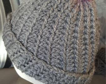 Pom pom hat, child pom pom hat, adult pom pom hat, winter hat, funky pom pom hat, trendy pom pom hat